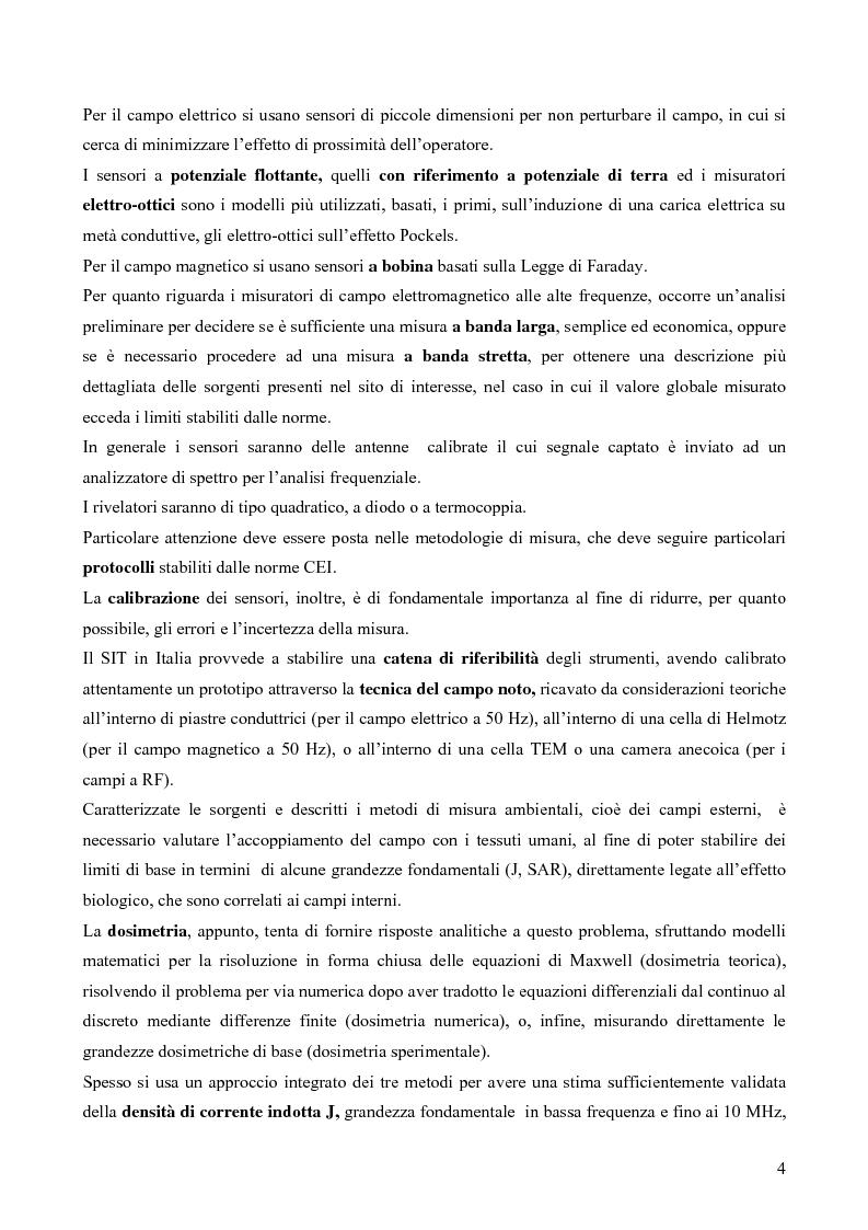 Anteprima della tesi: Misure e valutazione dell'esposizione umana ai campi elettromagnetici in zone densamente popolate, Pagina 4