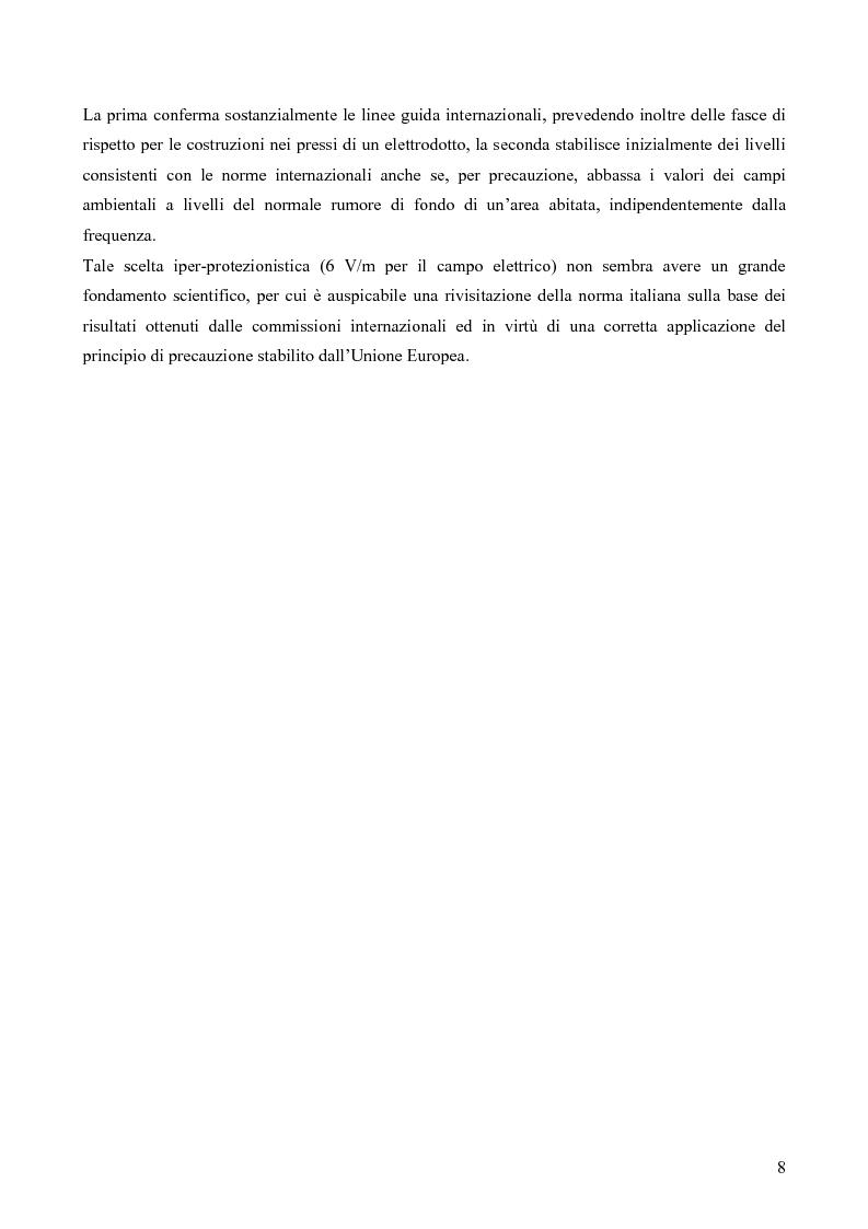 Anteprima della tesi: Misure e valutazione dell'esposizione umana ai campi elettromagnetici in zone densamente popolate, Pagina 8
