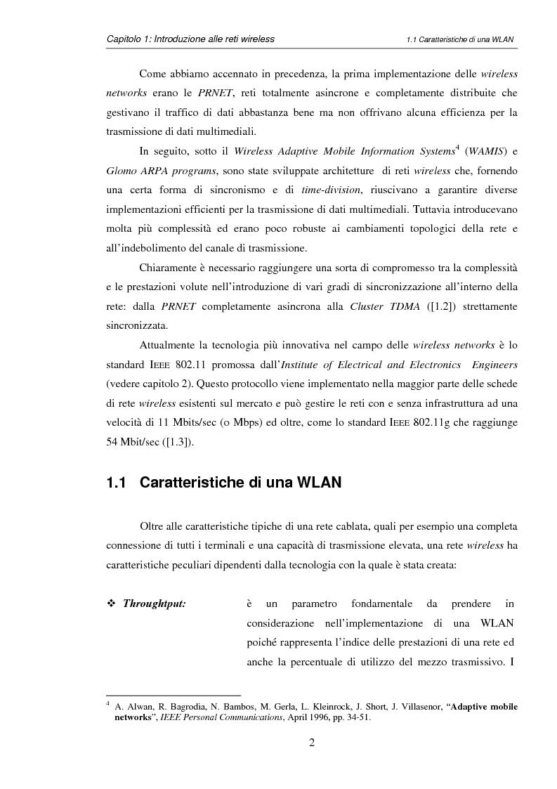 Anteprima della tesi: Impatto del carrier sensing e della Fresnel zone in reti locali wireless ad hoc 802.11, Pagina 5