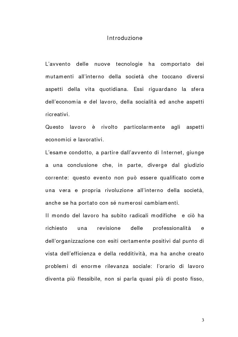 Anteprima della tesi: La dimensione del lavoro nel settore Ict, Pagina 1