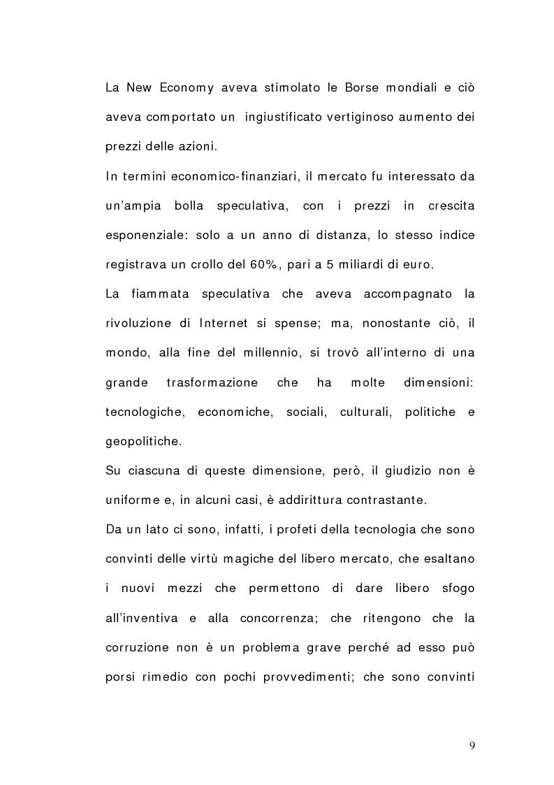 Anteprima della tesi: La dimensione del lavoro nel settore Ict, Pagina 7