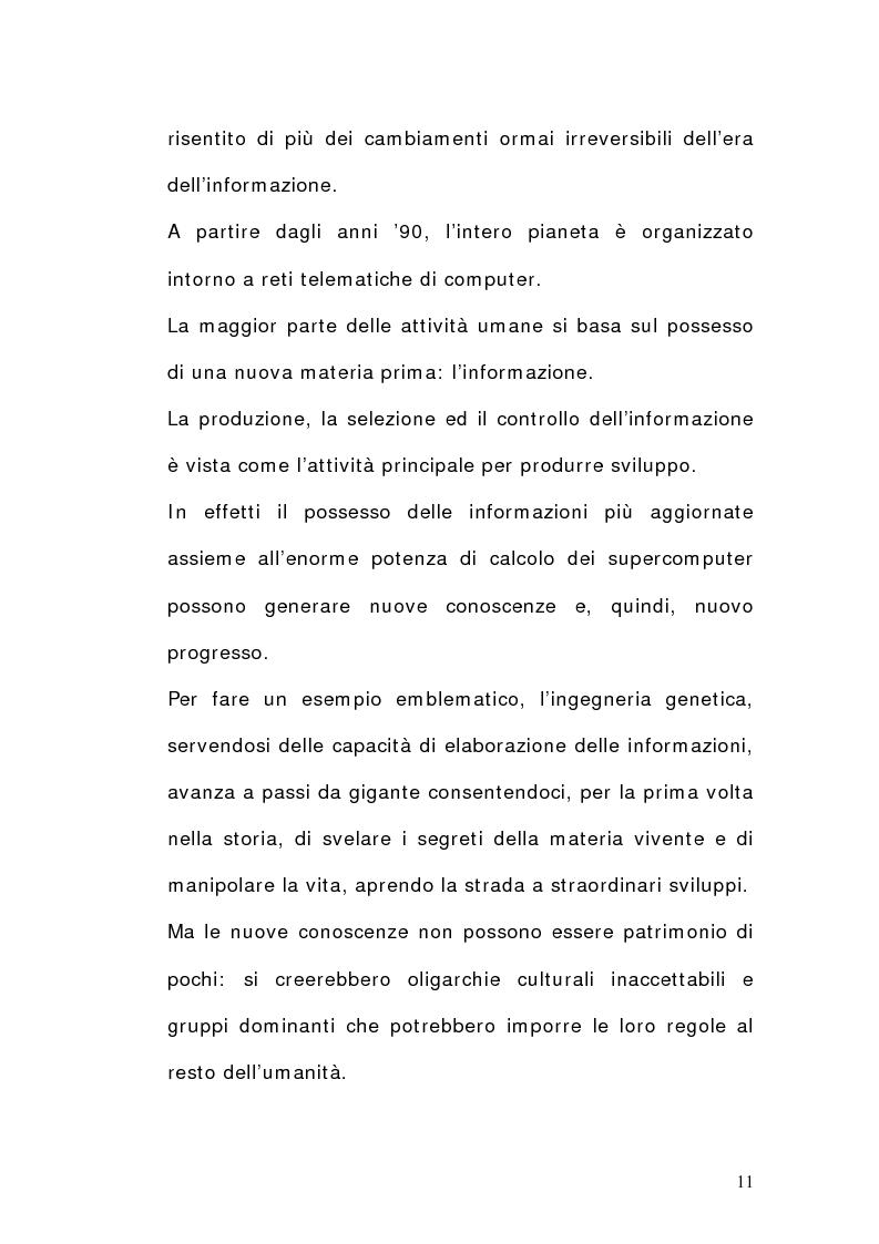 Anteprima della tesi: La dimensione del lavoro nel settore Ict, Pagina 9