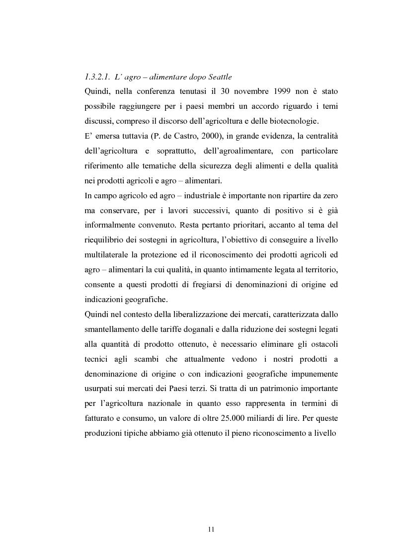 Anteprima della tesi: L'industria alimentare e il caso dei prodotti biologici, Pagina 11