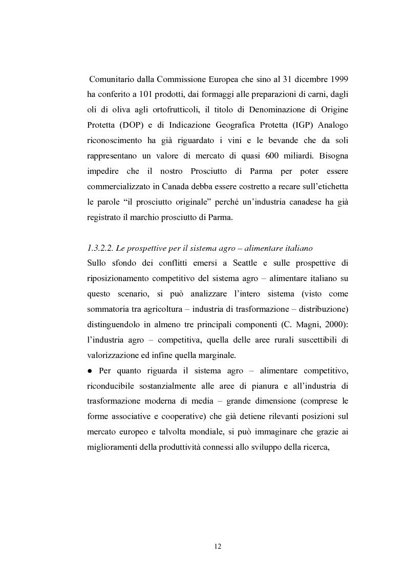 Anteprima della tesi: L'industria alimentare e il caso dei prodotti biologici, Pagina 12