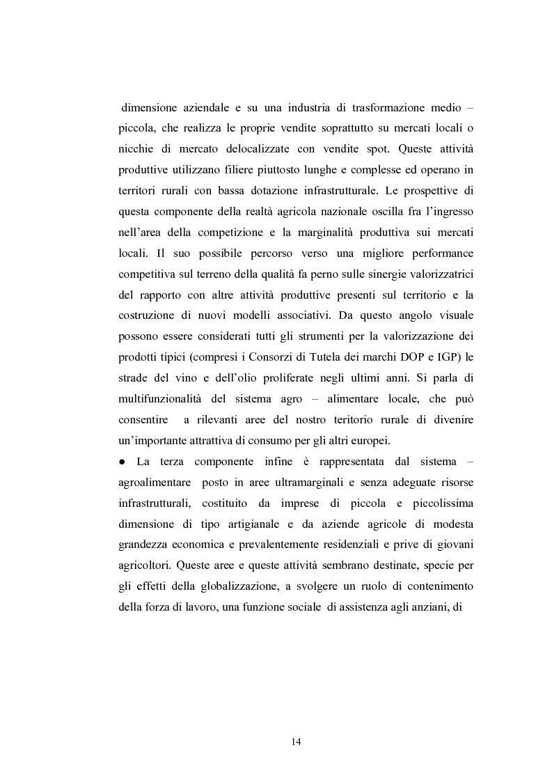 Anteprima della tesi: L'industria alimentare e il caso dei prodotti biologici, Pagina 14