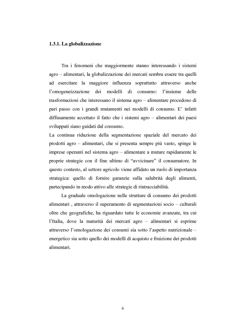 Anteprima della tesi: L'industria alimentare e il caso dei prodotti biologici, Pagina 6
