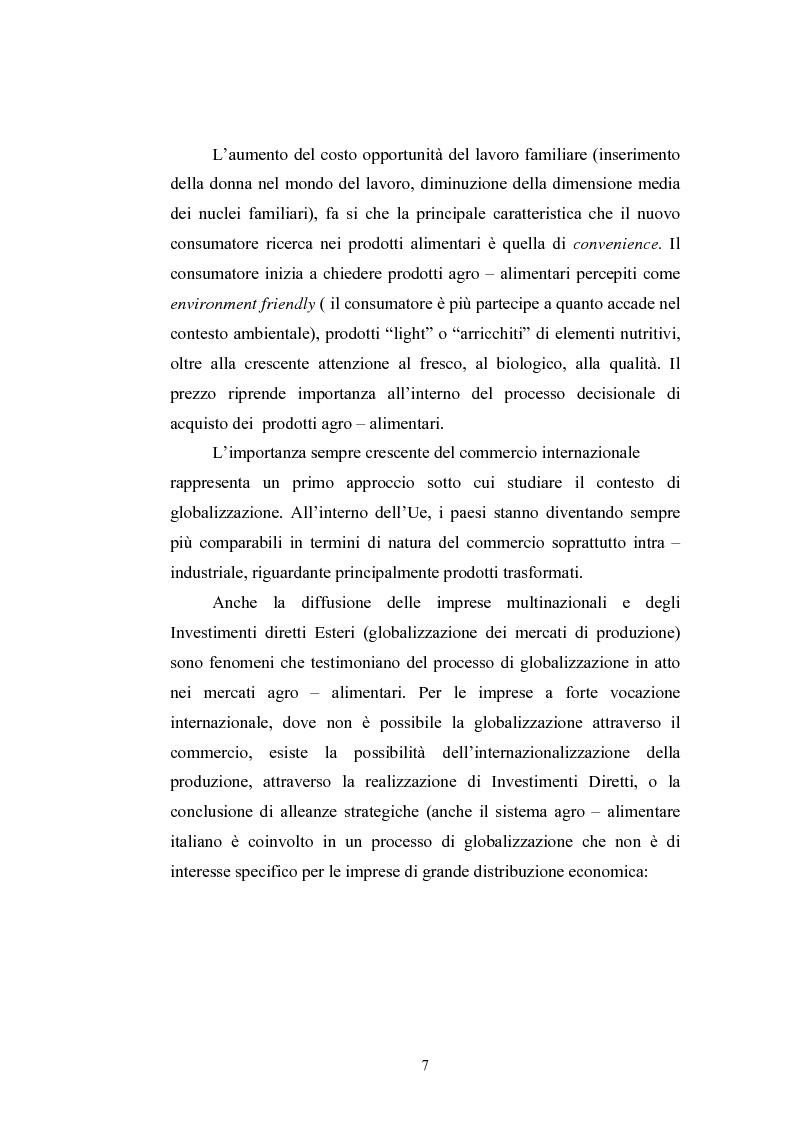 Anteprima della tesi: L'industria alimentare e il caso dei prodotti biologici, Pagina 7