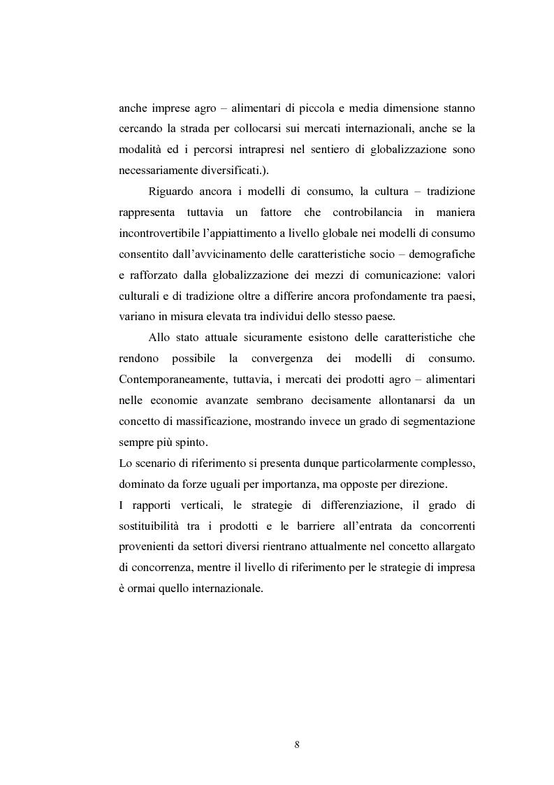 Anteprima della tesi: L'industria alimentare e il caso dei prodotti biologici, Pagina 8