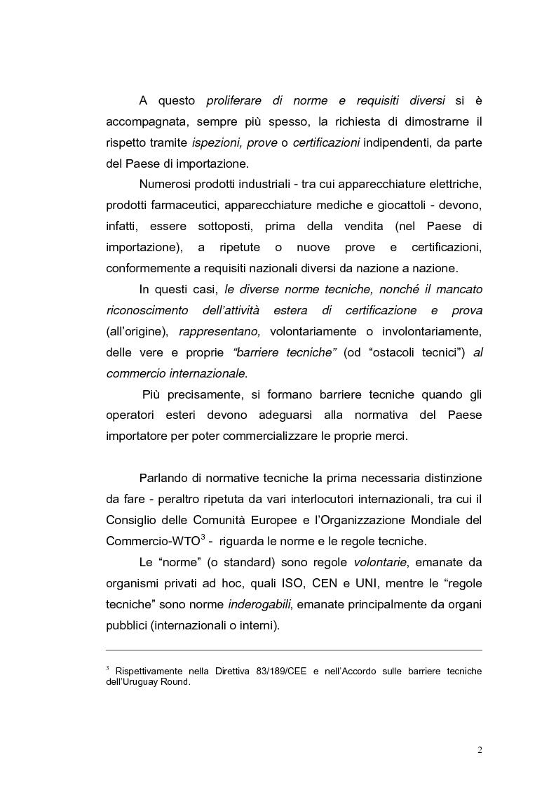 Anteprima della tesi: Le barriere tecniche alla libera circolazione delle merci, Pagina 2