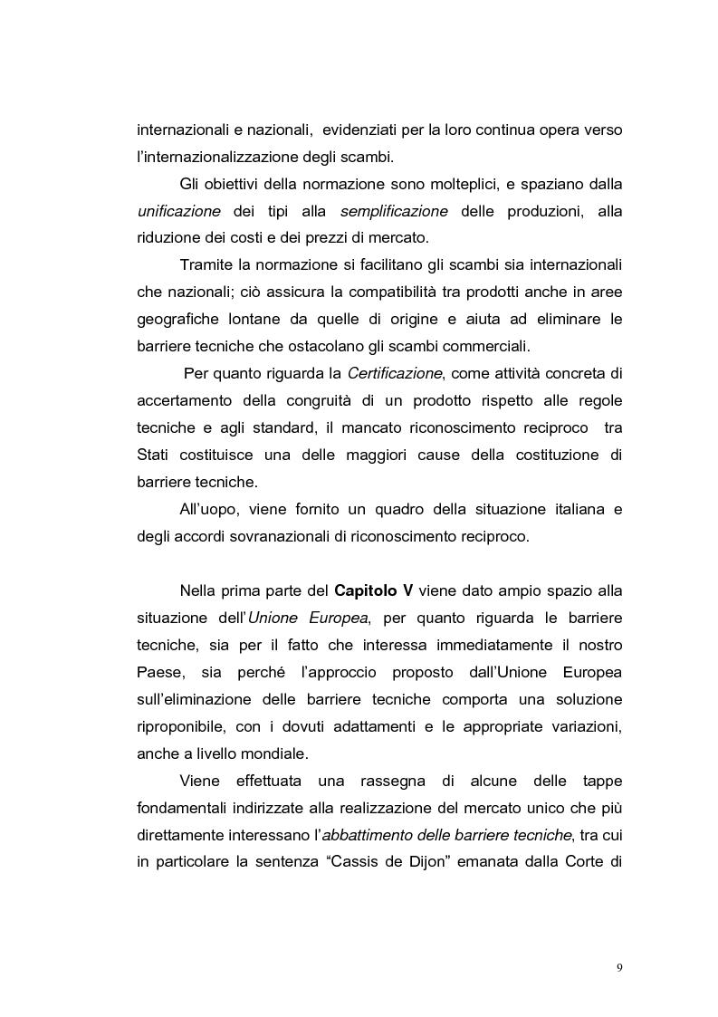 Anteprima della tesi: Le barriere tecniche alla libera circolazione delle merci, Pagina 9