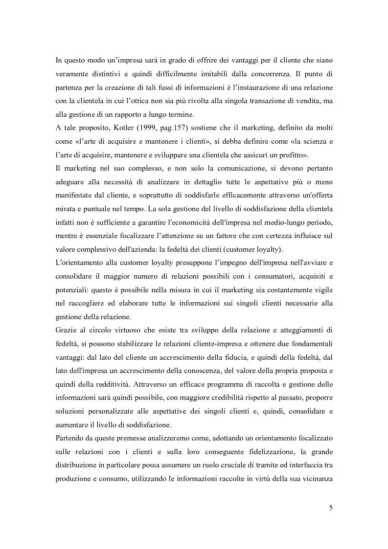 Anteprima della tesi: Il marketing relazionale nella grande distribuzione, Pagina 2