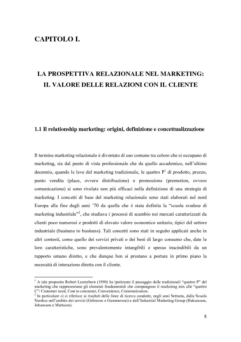 Anteprima della tesi: Il marketing relazionale nella grande distribuzione, Pagina 5