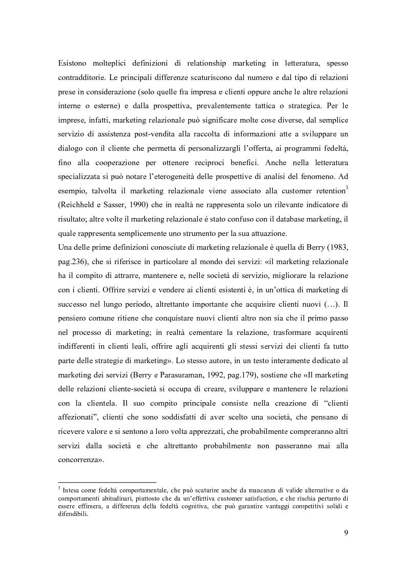 Anteprima della tesi: Il marketing relazionale nella grande distribuzione, Pagina 6