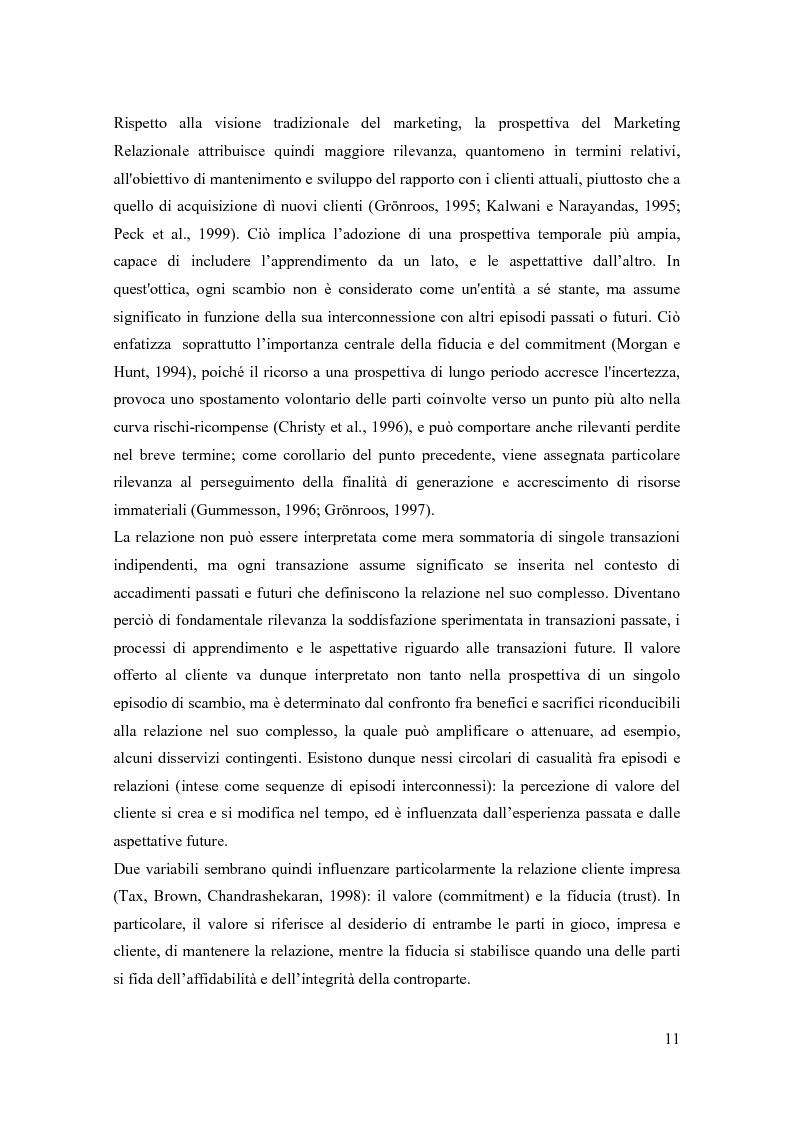 Anteprima della tesi: Il marketing relazionale nella grande distribuzione, Pagina 8