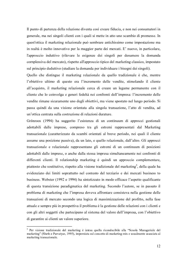 Anteprima della tesi: Il marketing relazionale nella grande distribuzione, Pagina 9