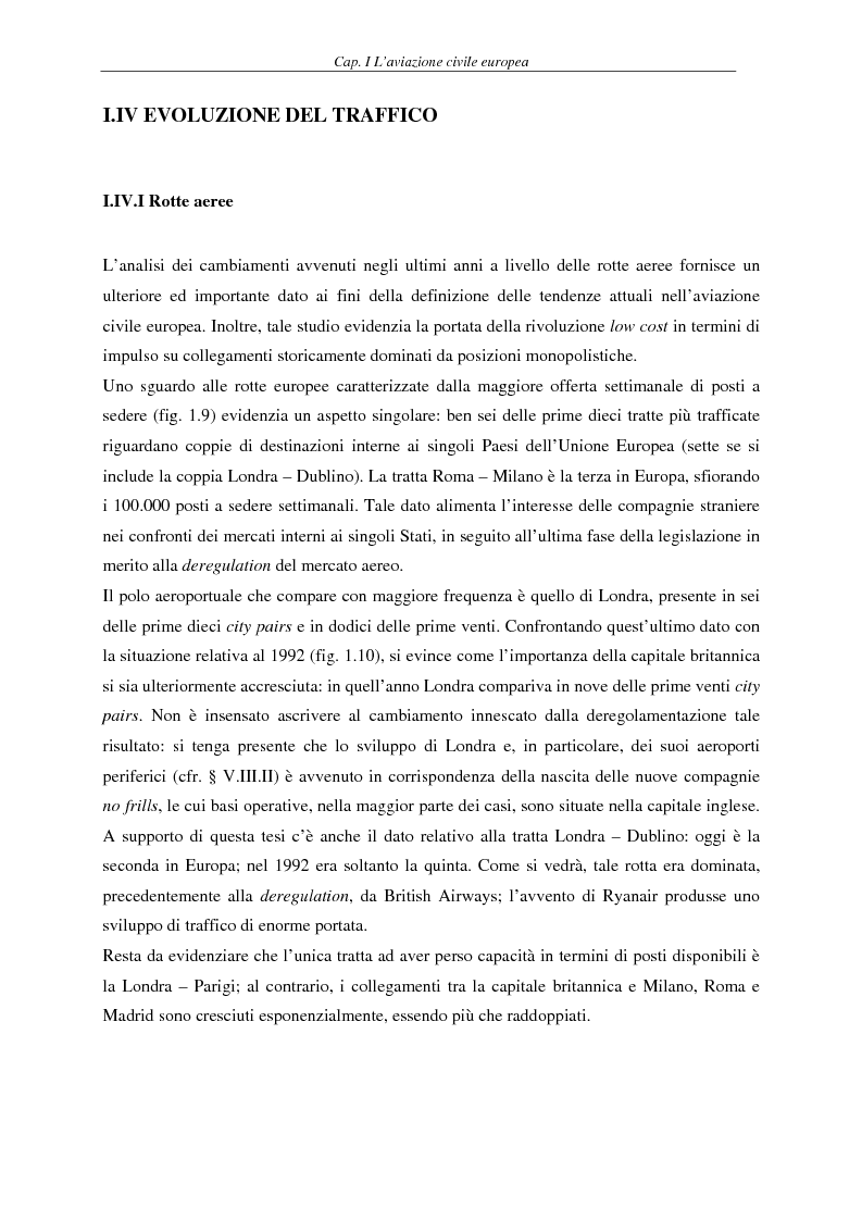 Anteprima della tesi: Il fenomeno del volo low cost in Europa: risvolti economici, sociali, turistici, Pagina 14