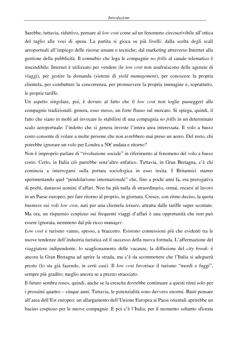 Anteprima della tesi: Il fenomeno del volo low cost in Europa: risvolti economici, sociali, turistici, Pagina 2