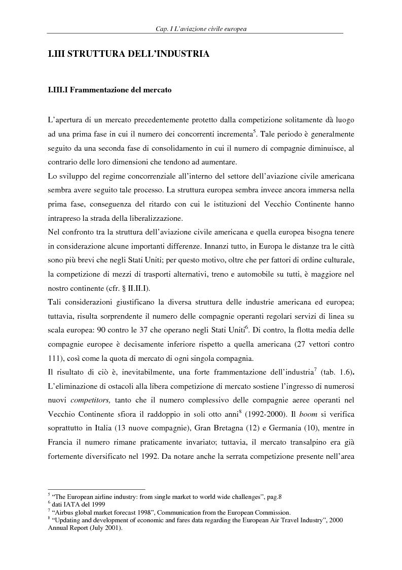 Anteprima della tesi: Il fenomeno del volo low cost in Europa: risvolti economici, sociali, turistici, Pagina 9