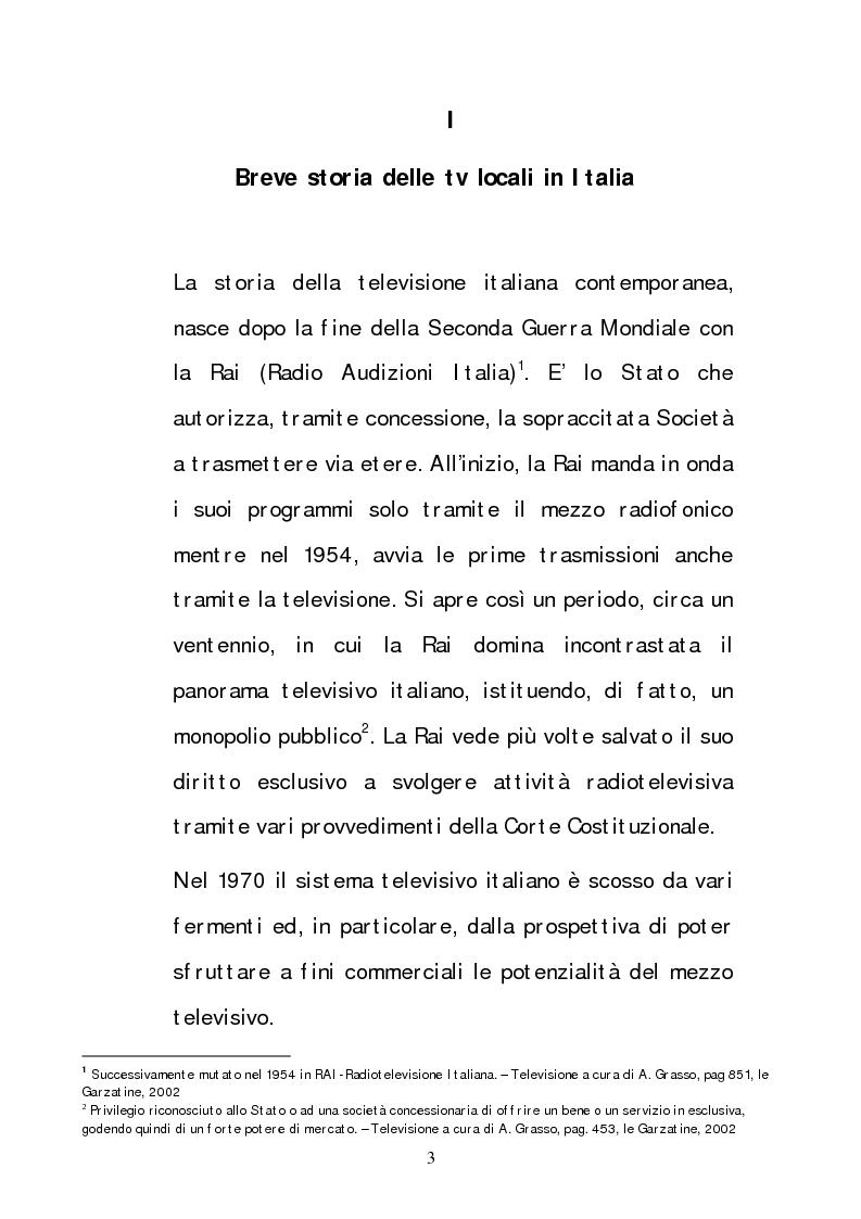 Anteprima della tesi: Lo sviluppo delle tv locali in Italia e la loro diffusione via satellite, Pagina 3