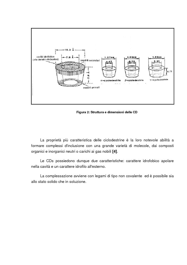 Anteprima della tesi: Caratterizzazione e valutazione delle proprietà complessanti di materiali a base di ciclodestrina, Pagina 5
