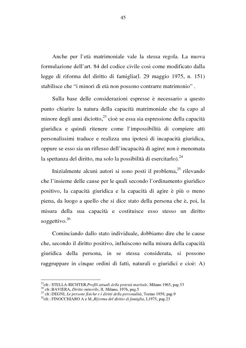 Anteprima della tesi: La capacità matrimoniale del minore in diritto canonico e nel diritto civile italiano, Pagina 10