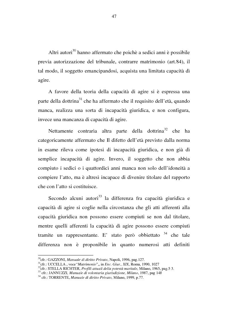 Anteprima della tesi: La capacità matrimoniale del minore in diritto canonico e nel diritto civile italiano, Pagina 12