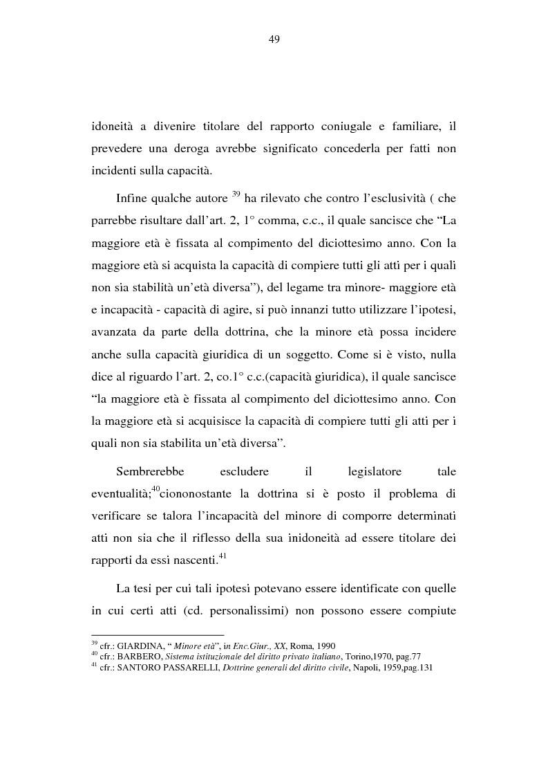 Anteprima della tesi: La capacità matrimoniale del minore in diritto canonico e nel diritto civile italiano, Pagina 14