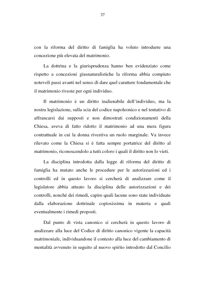 Anteprima della tesi: La capacità matrimoniale del minore in diritto canonico e nel diritto civile italiano, Pagina 2