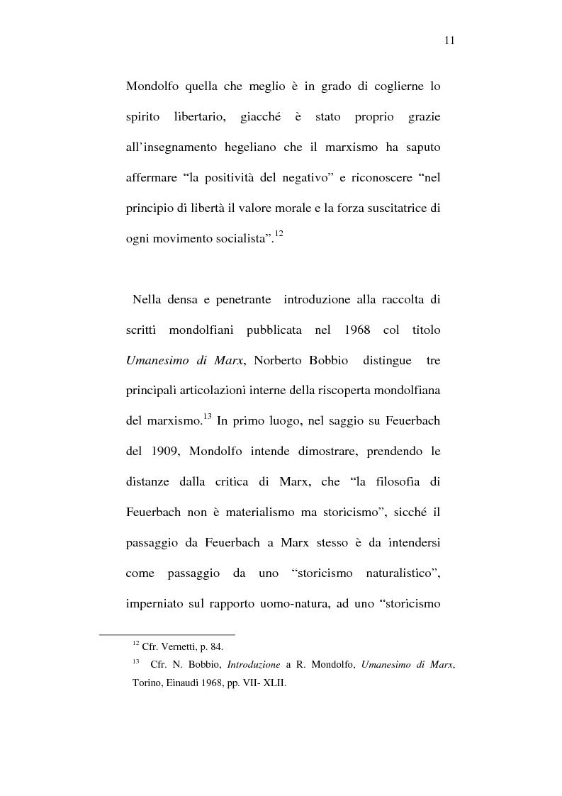 Anteprima della tesi: Rodolfo Mondolfo critico di Engels, Pagina 10