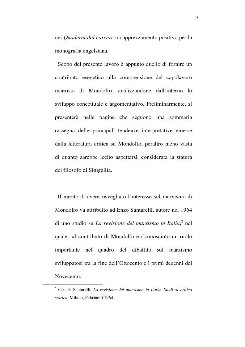 Anteprima della tesi: Rodolfo Mondolfo critico di Engels, Pagina 2