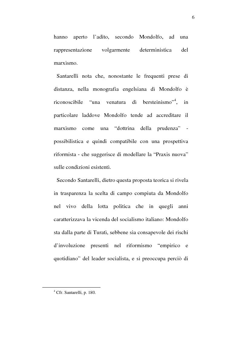 Anteprima della tesi: Rodolfo Mondolfo critico di Engels, Pagina 5