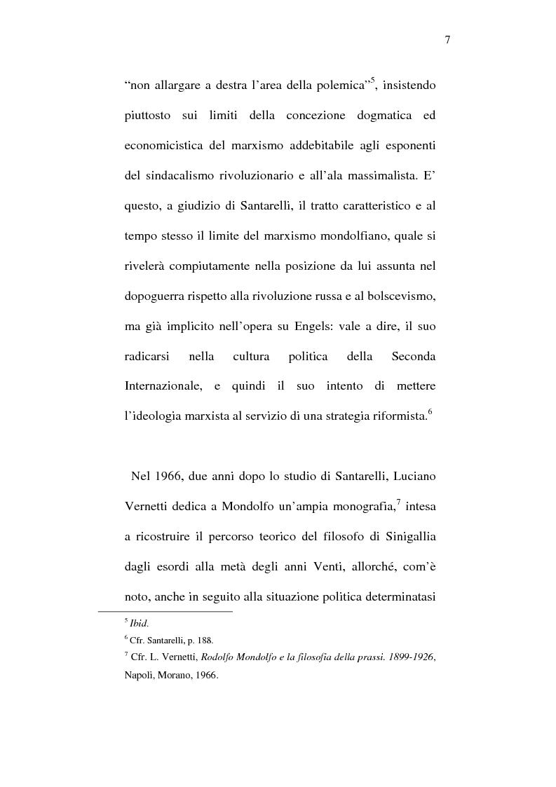 Anteprima della tesi: Rodolfo Mondolfo critico di Engels, Pagina 6