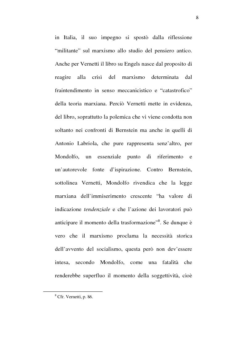 Anteprima della tesi: Rodolfo Mondolfo critico di Engels, Pagina 7