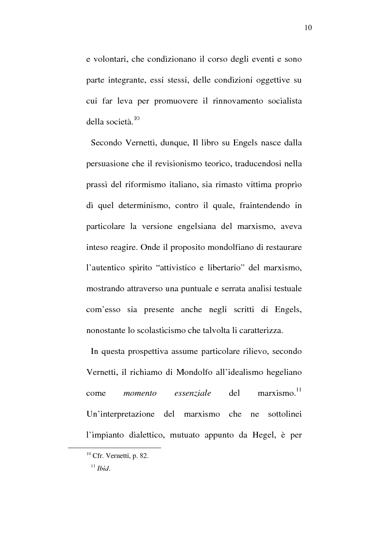 Anteprima della tesi: Rodolfo Mondolfo critico di Engels, Pagina 9