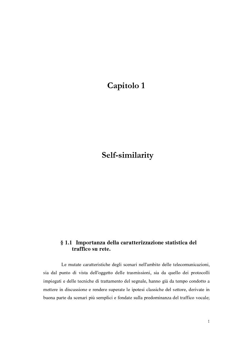Anteprima della tesi: Influenza dei meccanismi di controllo delle connessioni sulle caratteristiche autosimilari del traffico su rete, Pagina 1