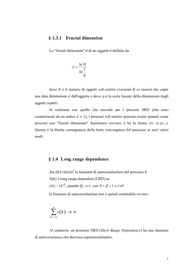 Anteprima della tesi: Influenza dei meccanismi di controllo delle connessioni sulle caratteristiche autosimilari del traffico su rete, Pagina 6