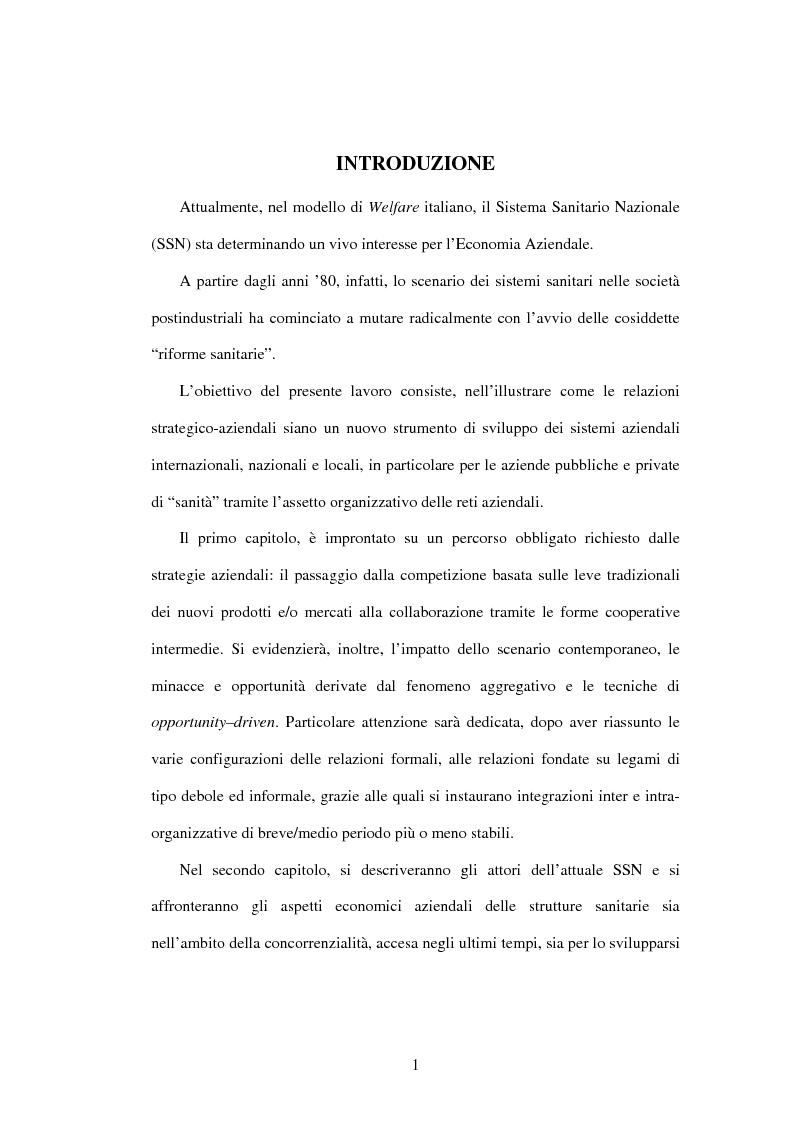 Anteprima della tesi: Le reti aziendali in sanità: il caso Texas Medical Center, Pagina 1