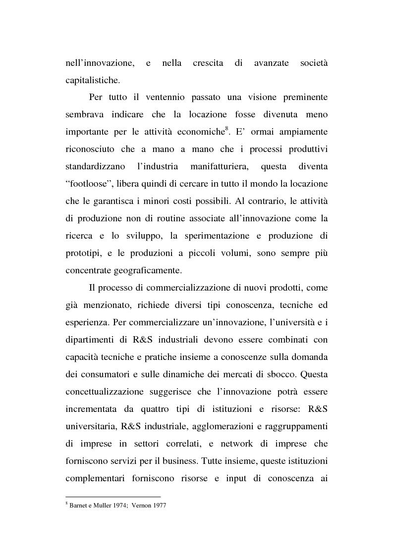 Anteprima della tesi: Le organizzazioni territoriali dell'innovazione, il caso Sophia Antipolis, Pagina 4