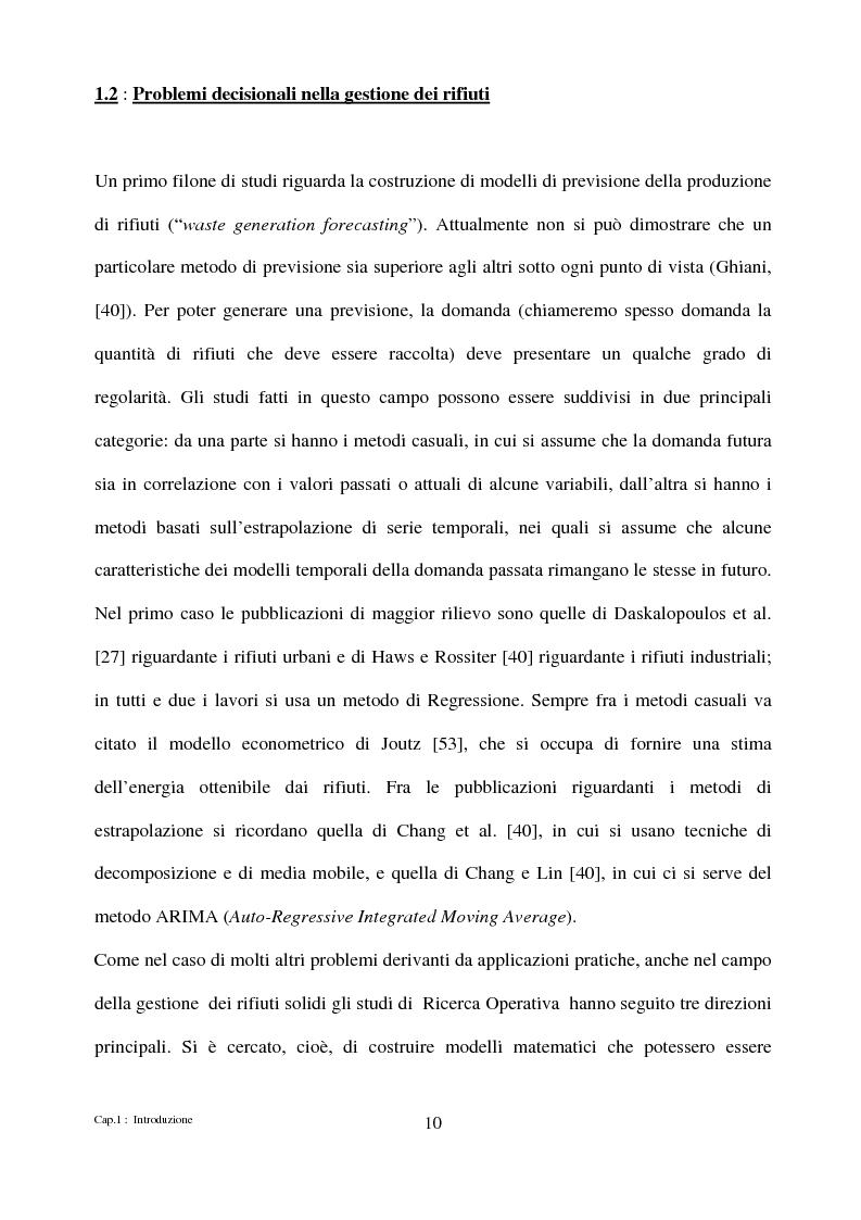 Anteprima della tesi: Algoritmi di ottimizzazione per la raccolta dei rifiuti solidi urbani, Pagina 10