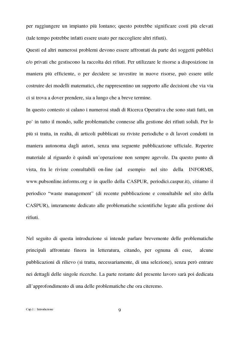 Anteprima della tesi: Algoritmi di ottimizzazione per la raccolta dei rifiuti solidi urbani, Pagina 9