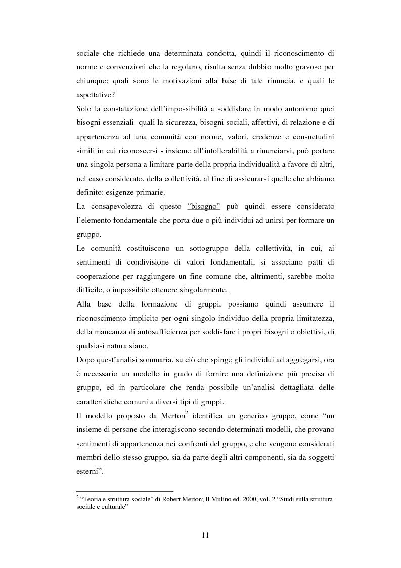 Anteprima della tesi: Un'analisi dei meccanismi di coordinamento, incentivazione, controllo nei gruppi di lavoro ed integrazione nell'organizzazione, Pagina 11