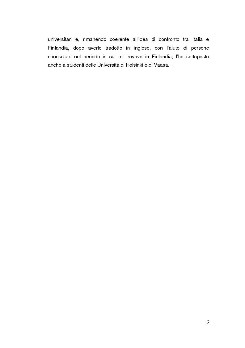 Anteprima della tesi: Telefonia mobile: impatto sociale. Indagine empirico-comparativa sulla percezione e l'uso del telefonino da parte di studenti universitari di Italia e Finlandia, Pagina 3
