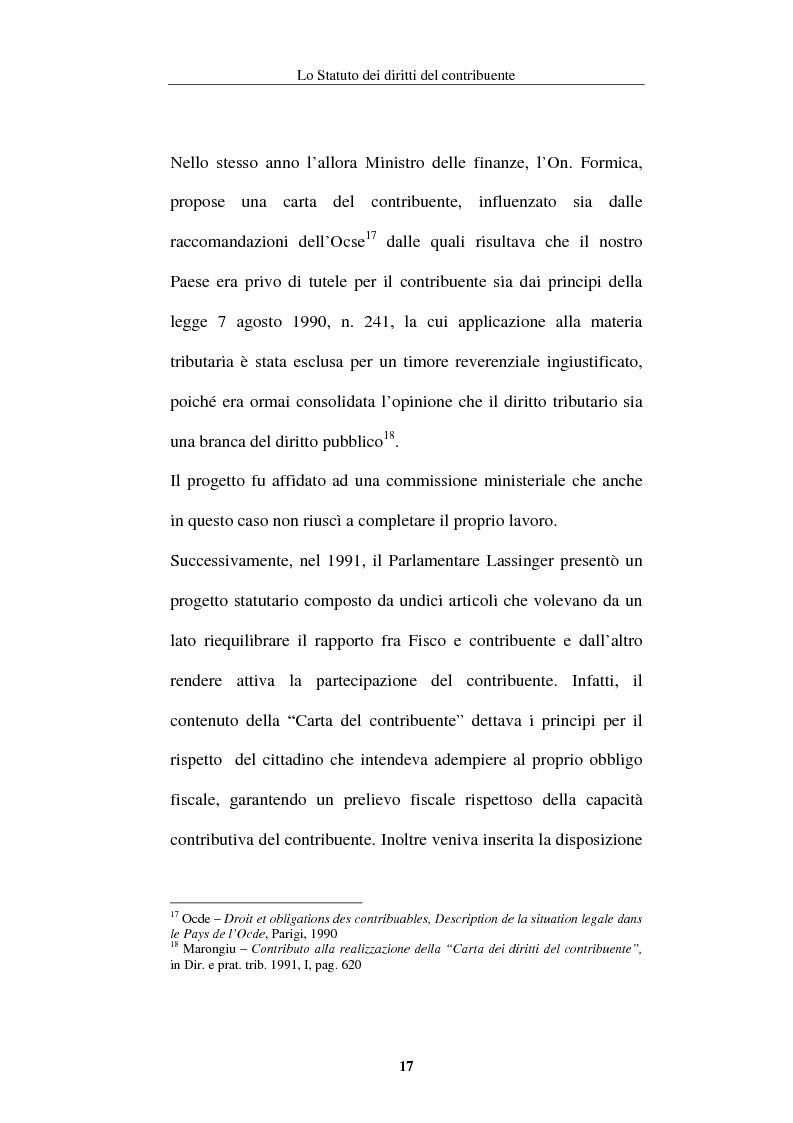 Anteprima della tesi: La tutela del contribuente nello Statuto dei diritti del contribuente, Pagina 14