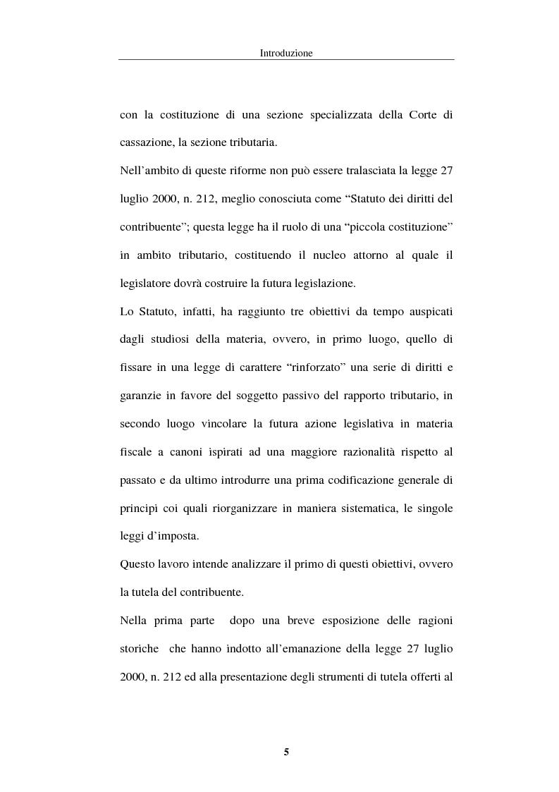 Anteprima della tesi: La tutela del contribuente nello Statuto dei diritti del contribuente, Pagina 2