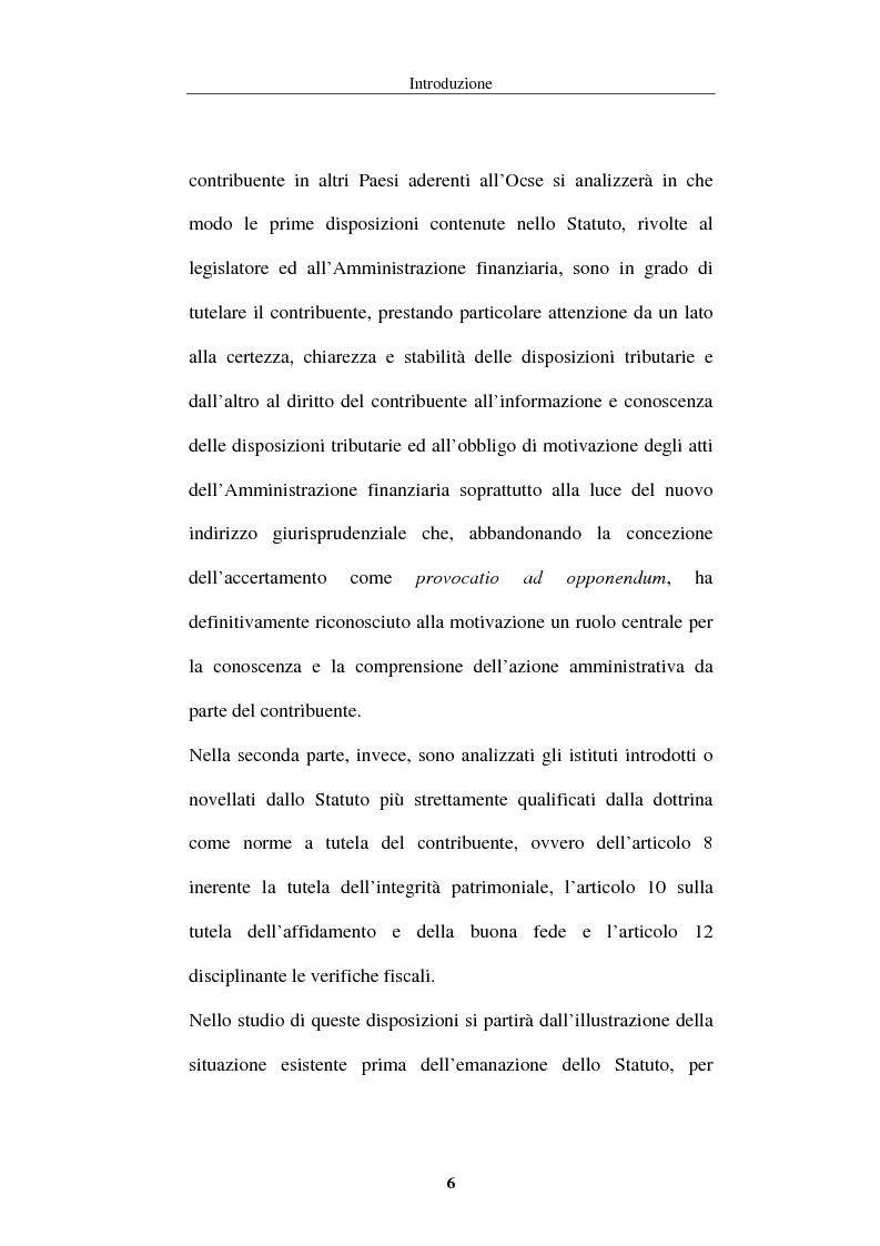 Anteprima della tesi: La tutela del contribuente nello Statuto dei diritti del contribuente, Pagina 3