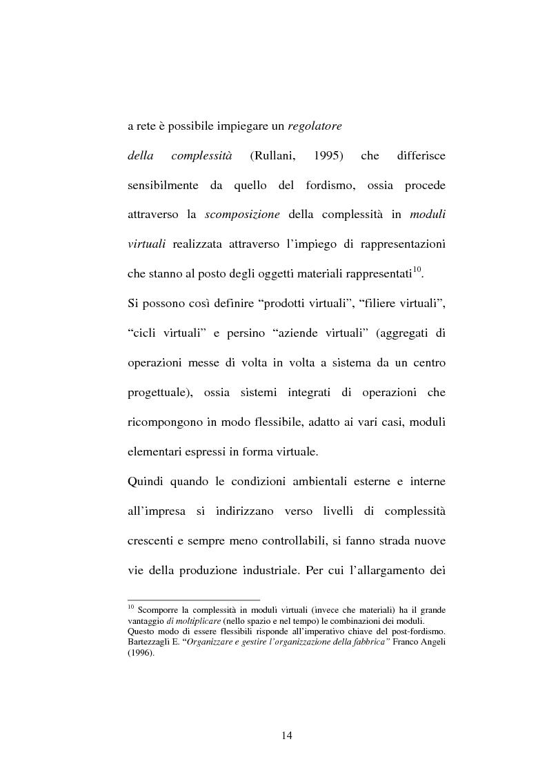 Anteprima della tesi: La gestione modulare della produzione. L'esperienza Mirs della Pirelli Pneumatici, Pagina 14