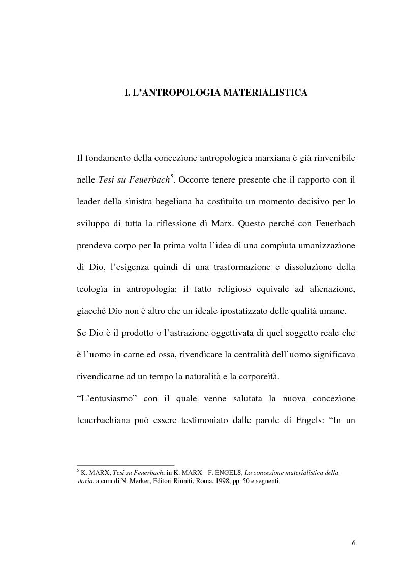 Anteprima della tesi: Karl Marx. Etica e critica dell'economia politica, Pagina 6