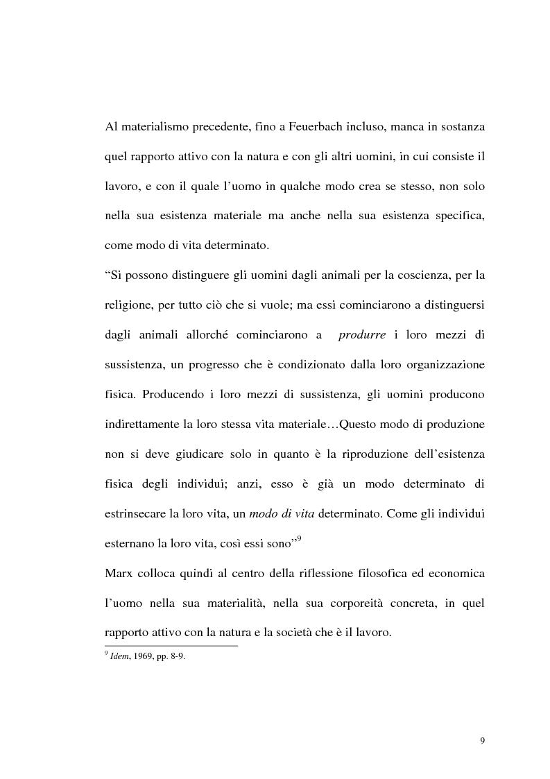 Anteprima della tesi: Karl Marx. Etica e critica dell'economia politica, Pagina 9