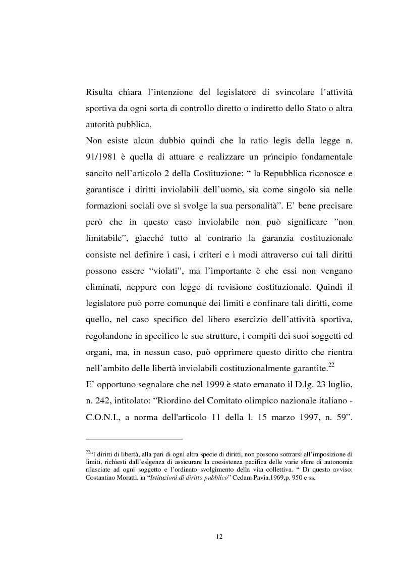 Anteprima della tesi: La tutela previdenziale del lavoro sportivo, Pagina 11