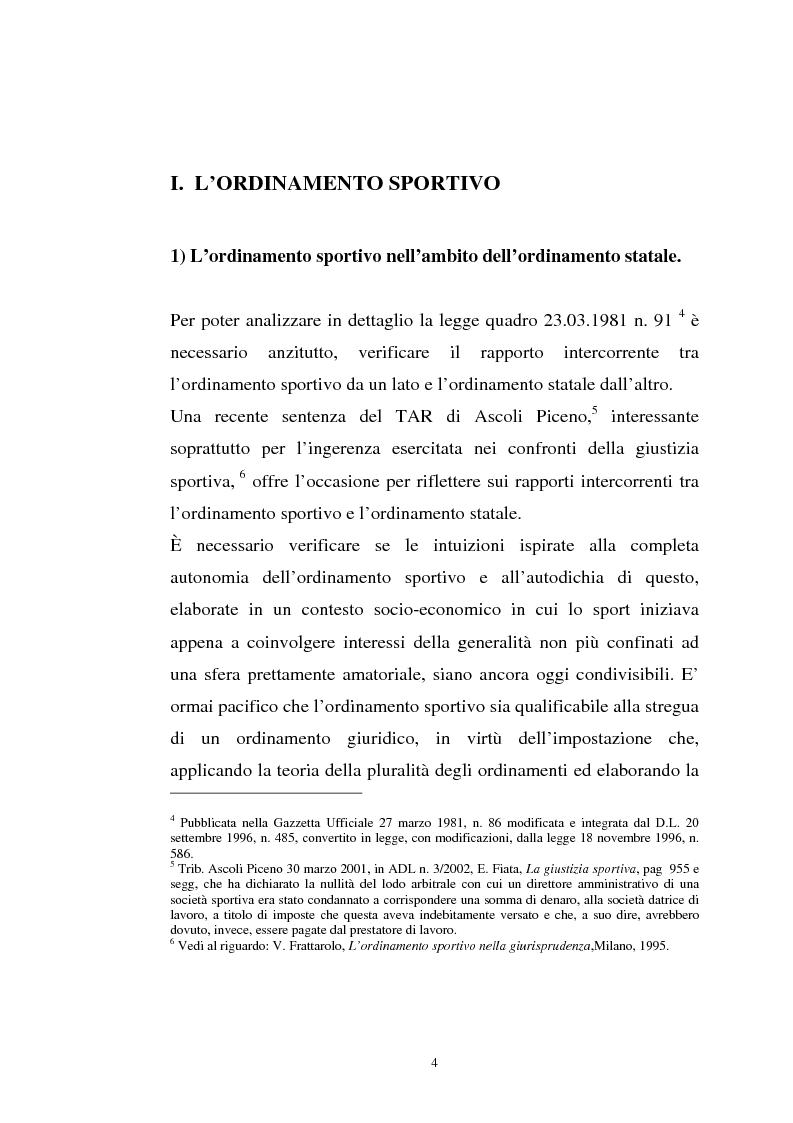 Anteprima della tesi: La tutela previdenziale del lavoro sportivo, Pagina 3